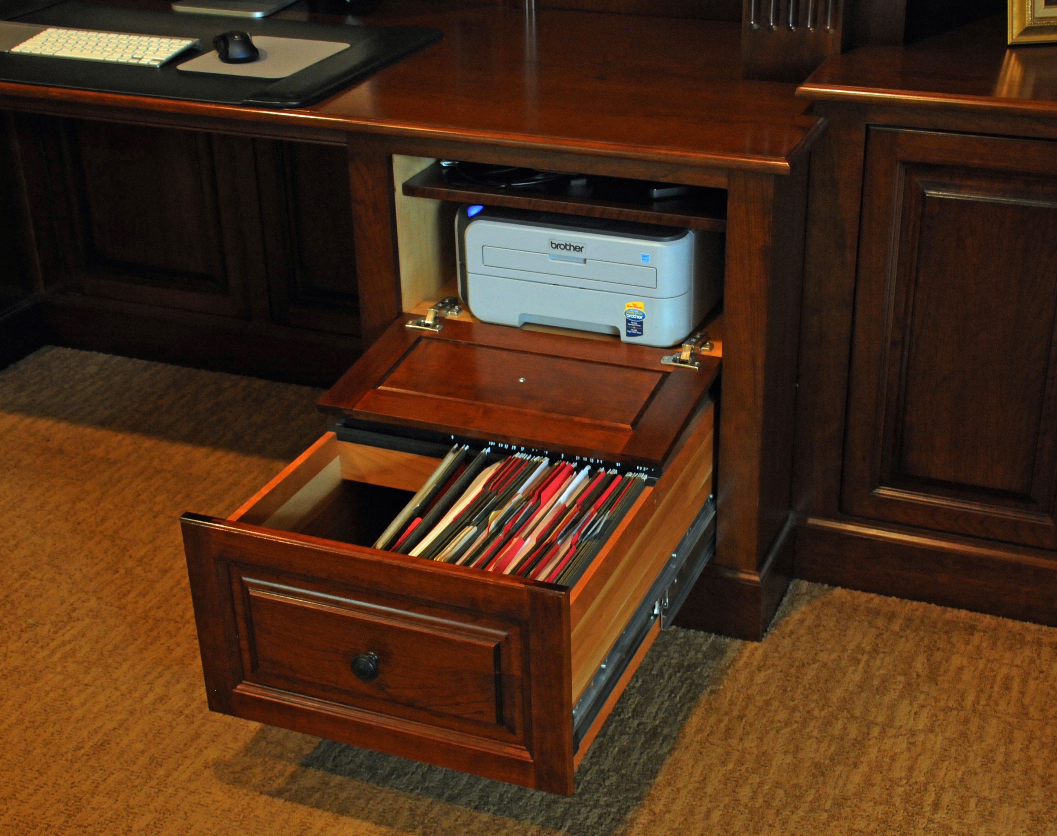 Genial How To Hide A Printer In Your Home Office | The DIY Playbook Home Office  Decor