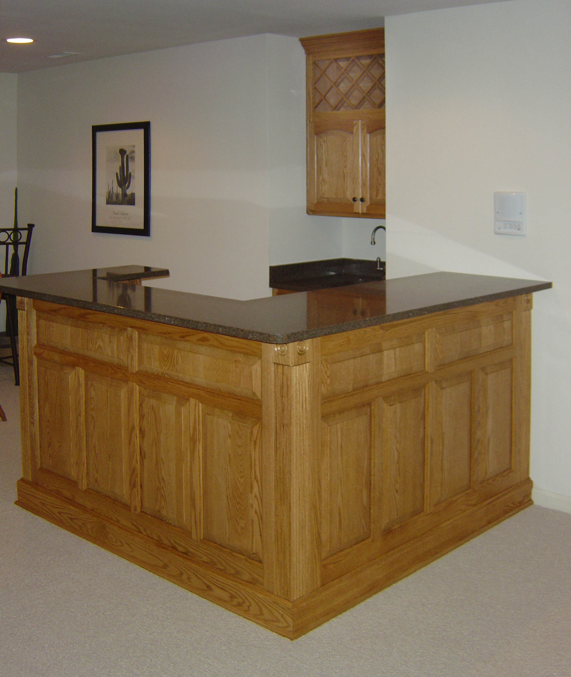 Beau Solid Oak Bar